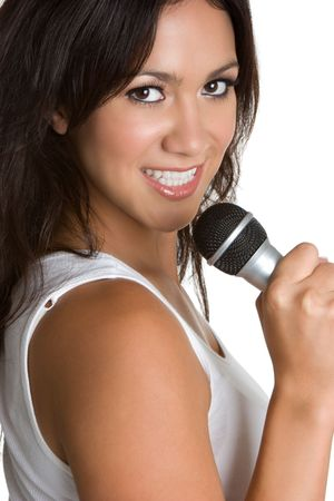 Singing Latina Stock Photo - 4439118