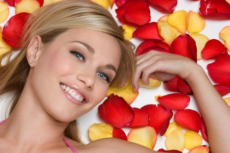Flower Petal Woman Stock Photo - 4439131
