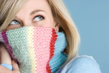 covering the face: Scarf Woman