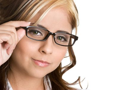 Mexican Woman Wearing Glasses
