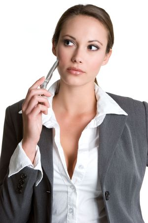 sexy business woman: Cell Phone Businesswoman