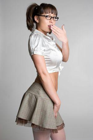 cola mujer: Asia conmocionado Chica LANG_EVOIMAGES
