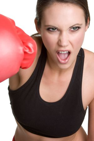 Angry Boxing Woman Stock Photo - 4463339