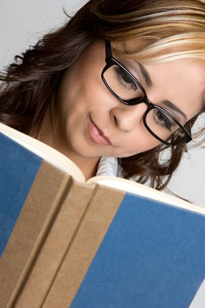 Mexican Girl Reading Stock Photo - 4505105