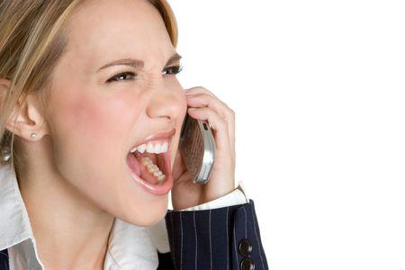 Yelling Phone Woman photo