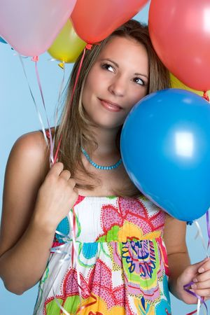 Pretty Balloon Girl Stock Photo - 4516016