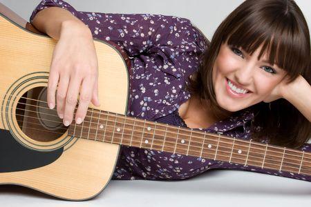 Guitar Girl Stock Photo - 4530814