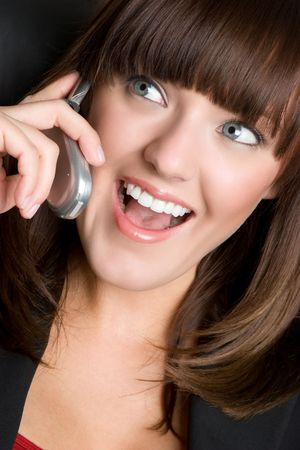 Laughing Phone Woman Stock Photo - 4530813