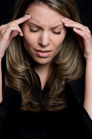 hoofdpijn: Benadrukt Woman