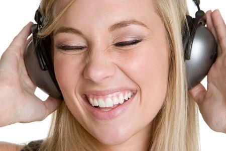 Laughing Music Girl Stock Photo - 4516028