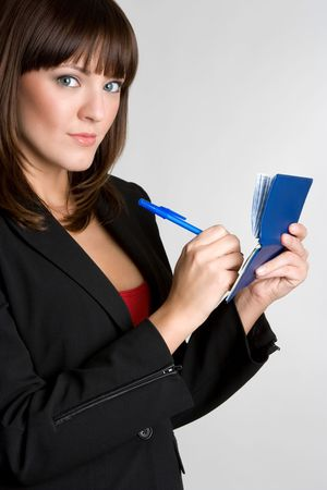 Woman Writing Checks Stock Photo - 4530820