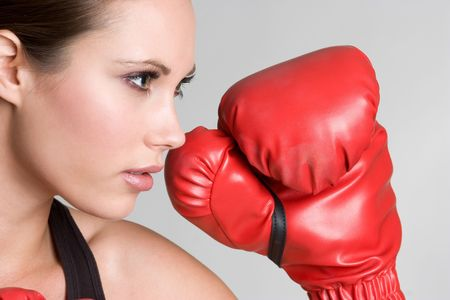 Boxing Girl Stock Photo - 4562501