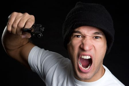 Angry Man With Gun Stock Photo - 4559207