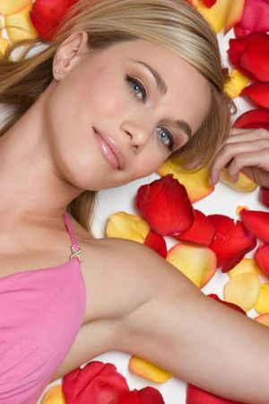 Woman in Rose Petals Stock Photo - 4573383