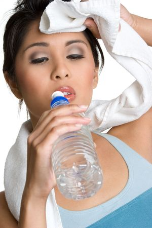 Fitness Woman Drinking Water Stock Photo - 4573391