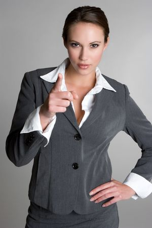 Pointing Businesswoman photo