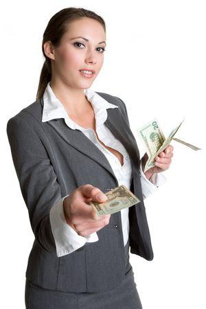 handing: Businesswoman With Money