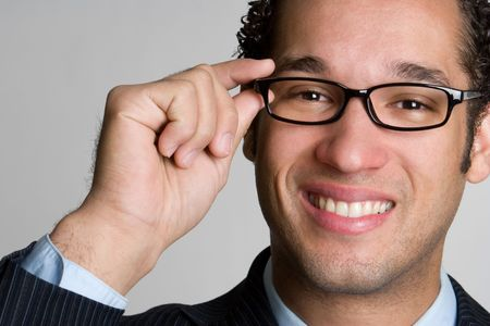 eye wear: Handsome Businessman Wearing Glasses