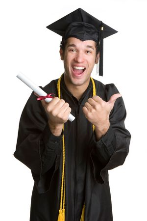 Excited Grad With Diploma photo