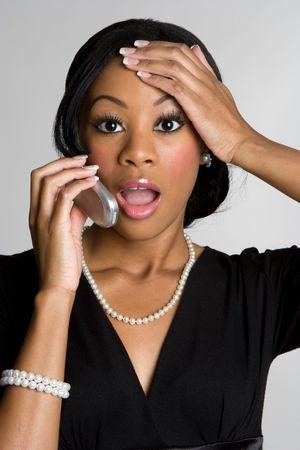 Shocked Phone Woman Stock Photo - 4593703