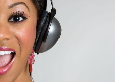 Happy Headphones Girl photo