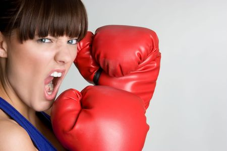 Angry Boxer Stock Photo - 4614287