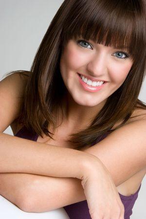 beautiful bangs: Beautiful Smiling Girl LANG_EVOIMAGES