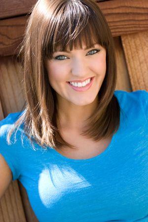 bangs: Smiling Young Woman