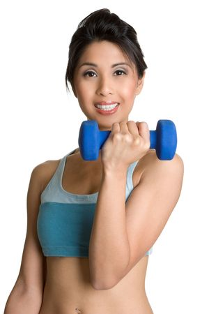 Smiling Fitness Girl photo