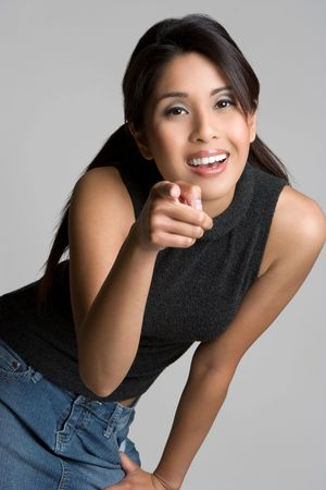 Asian Girl Pointing Stock Photo - 4636575
