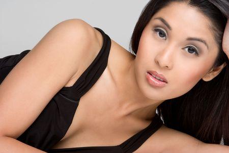 korean fashion: Mujer bonita de Asia