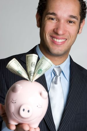 Piggybank Man Stock Photo - 4636580