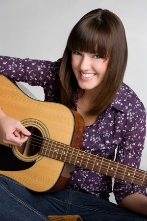 beautiful bangs: Guitar Woman