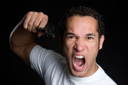 Frustrated Gun Man Stock Photo - 4652917