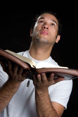 african worship: Man With Bible