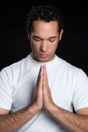 Young Man Praying Stock Photo - 4661620
