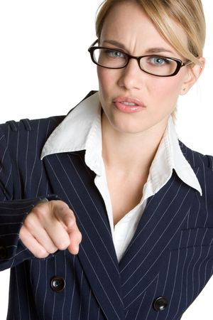 Mad Businesswoman Pointing Stock Photo - 4690219
