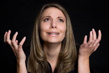 Pleading Woman Stock Photo - 4690218
