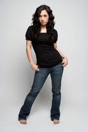 Vrouw posing