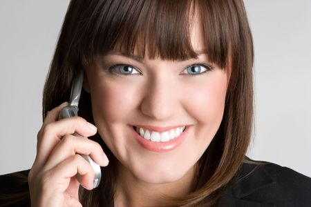 Smiling Phone Businesswoman