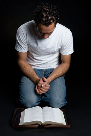 Man Reading Bible Stock Photo - 4679625