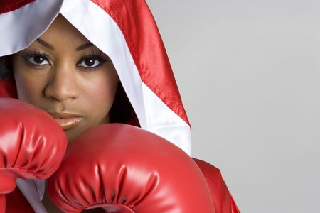 work glove: Black Boxing Woman