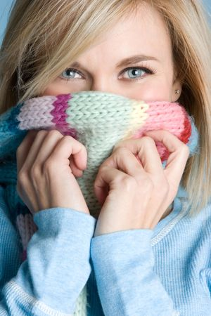 Blond Winter Girl Stock Photo - 4680050