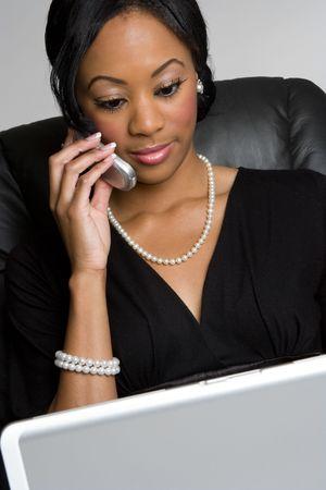 orden de compra: Negro Businesswoman