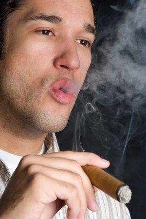 Black Man Smoking Stock Photo - 4709020
