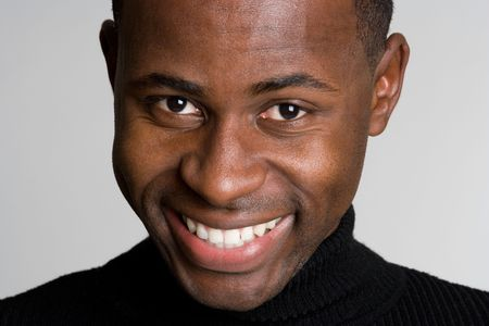 Negro Man Smiling Foto de archivo - 4709027