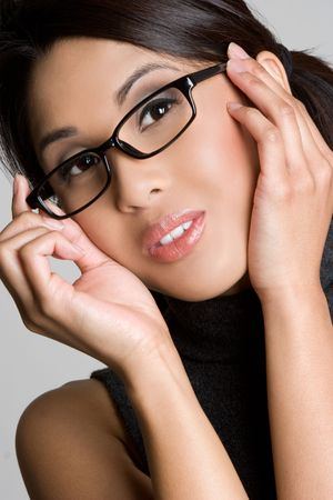Asian Glasses Girl Stock Photo - 4734290