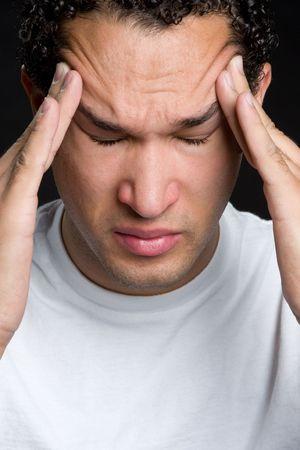Stressed Black Man Stock Photo - 4733776