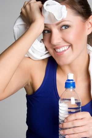 Fitness Girl Drinking Water Stock Photo - 4734295