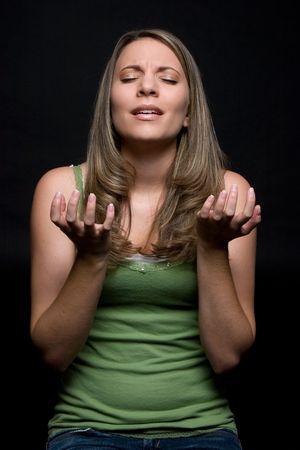 Pleading Religious Woman Stock Photo - 4734287